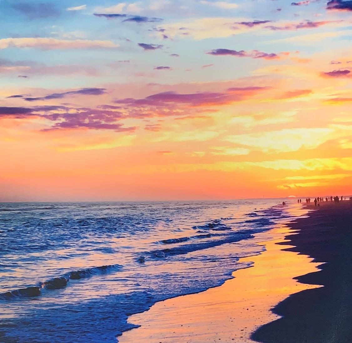 Metallic Ocean Sunset